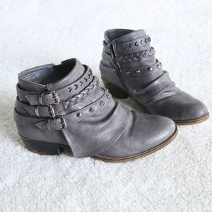 Rampage Terrain Charcoal Ankle Booties